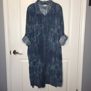 LulaRoe Ellie Long Button Front Dress Sz 3XL